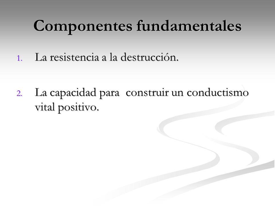 Componentes fundamentales 1.La resistencia a la destrucción.