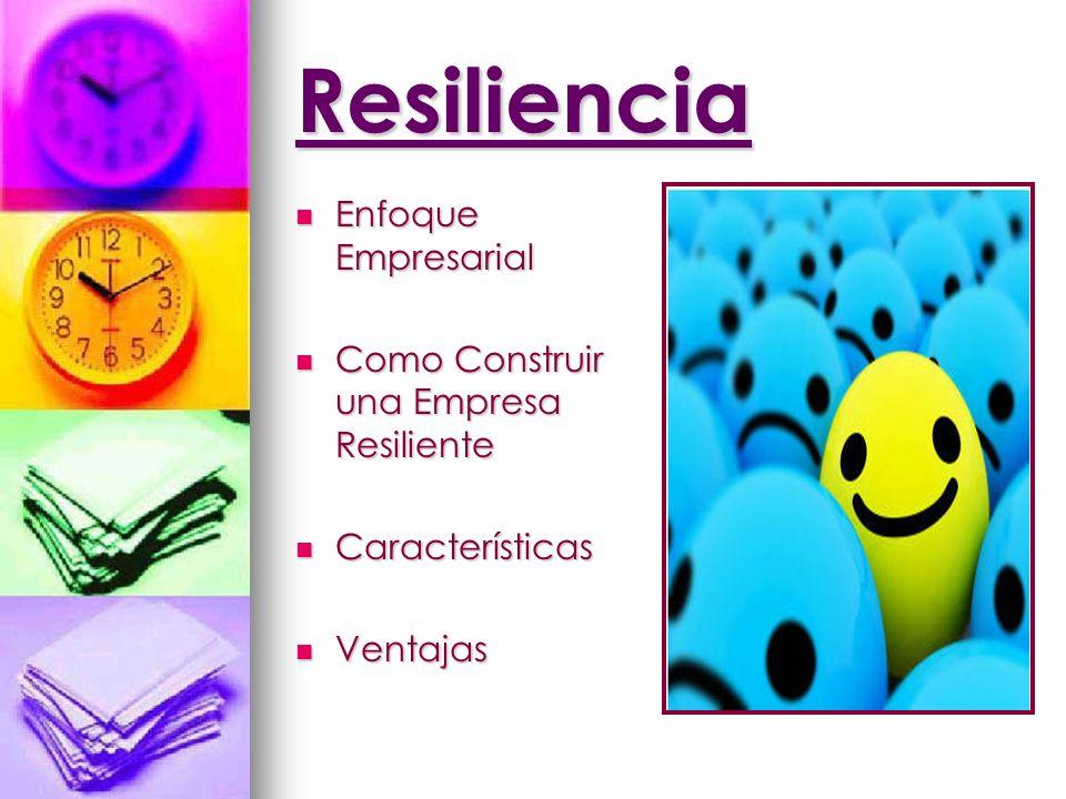 Resiliencia Enfoque Empresarial Enfoque Empresarial Como Construir una Empresa Resiliente Como Construir una Empresa Resiliente Características Caract
