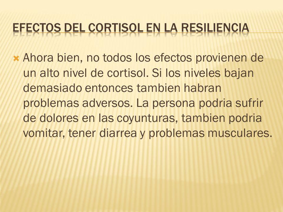 Como saben, el cortisol es liberado en momentos de estres, y es esencial para trabajar bajo esos momentos estresantes.