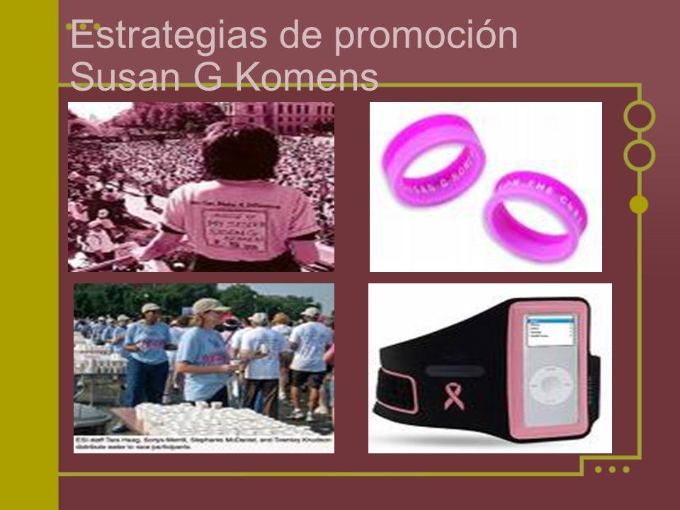 Estrategias de promoción Susan G Komens