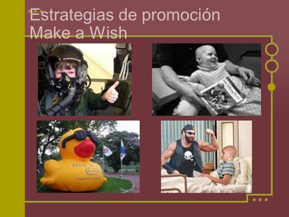 Estrategias de promoción Make a Wish