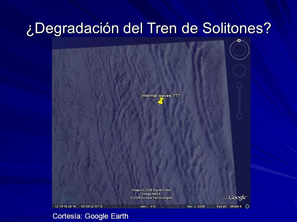¿Degradación del Tren de Solitones? Cortesía: Google Earth