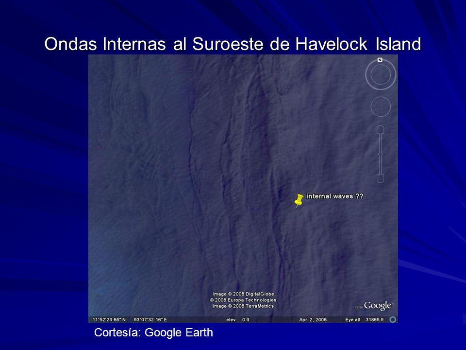 Ondas Internas al Suroeste de Havelock Island Cortesía: Google Earth