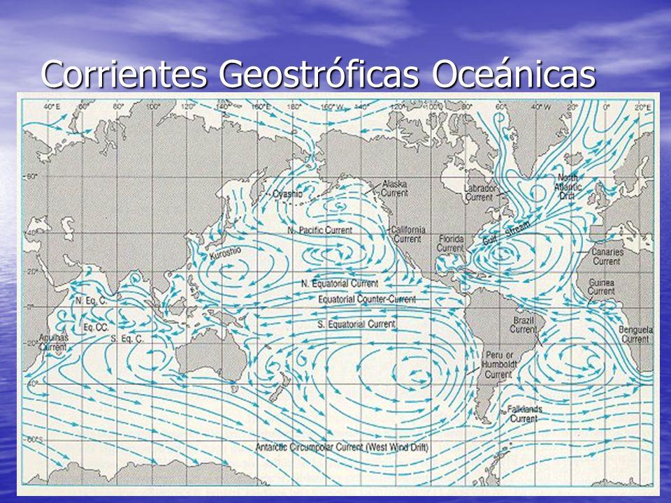 Corrientes Geostróficas Oceánicas