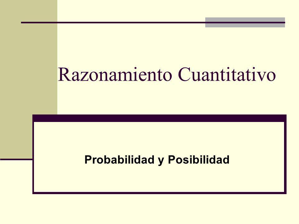 Razonamiento Cuantitativo Probabilidad y Posibilidad