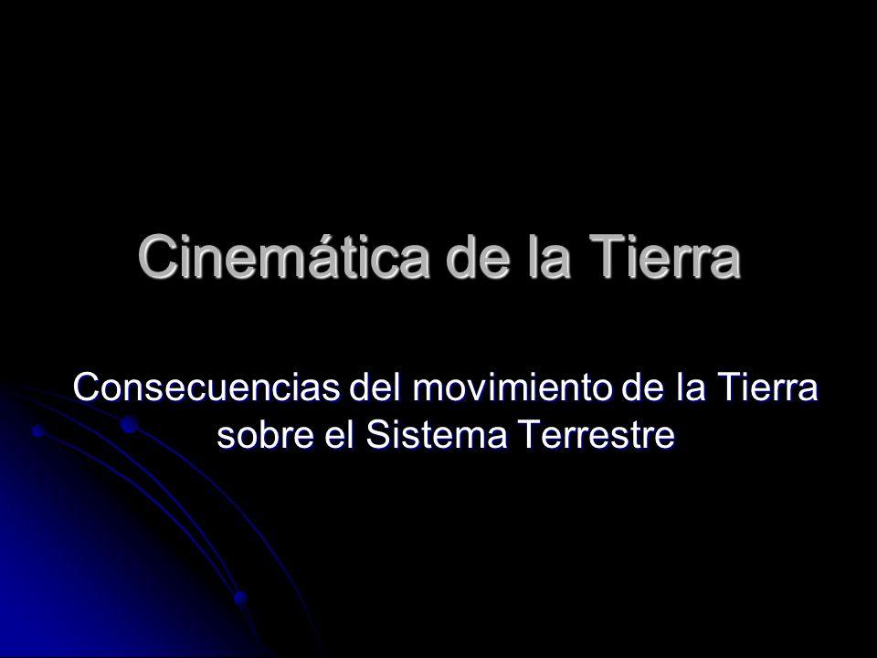 Cinemática de la Tierra Consecuencias del movimiento de la Tierra sobre el Sistema Terrestre