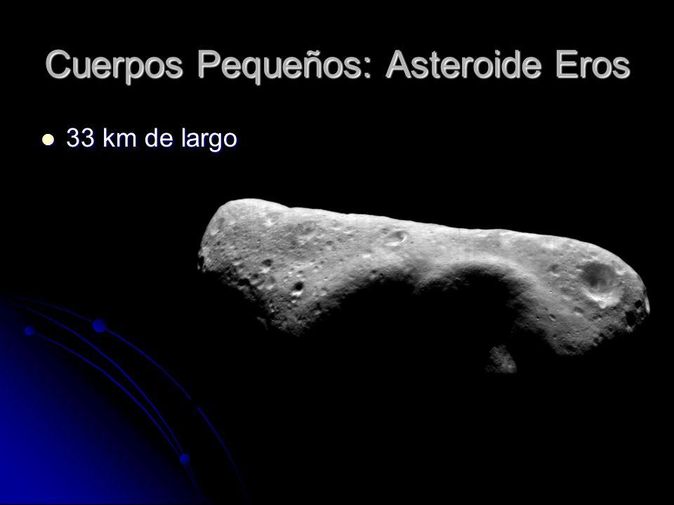 Cuerpos Pequeños: Asteroide Eros 33 km de largo 33 km de largo