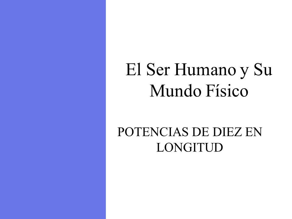 Atmosphere El Ser Humano y Su Mundo Físico POTENCIAS DE DIEZ EN LONGITUD
