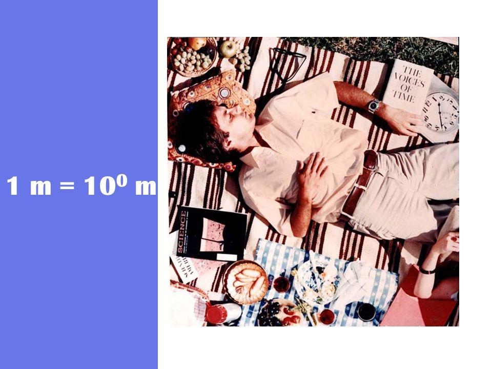 1 m = 10 0 m