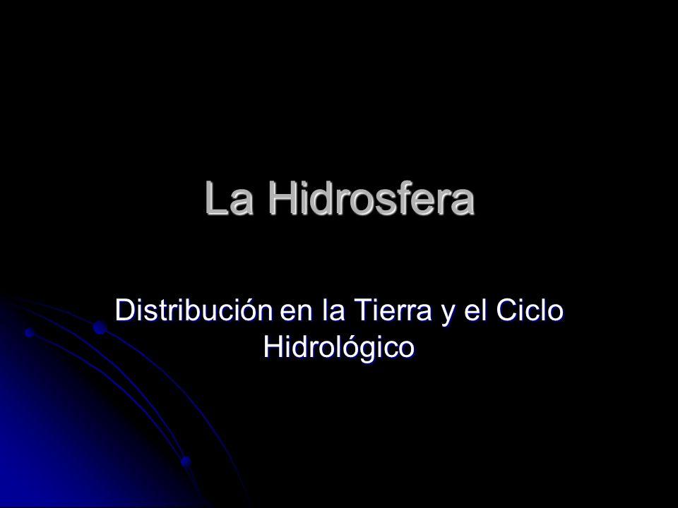La Hidrosfera Distribución en la Tierra y el Ciclo Hidrológico