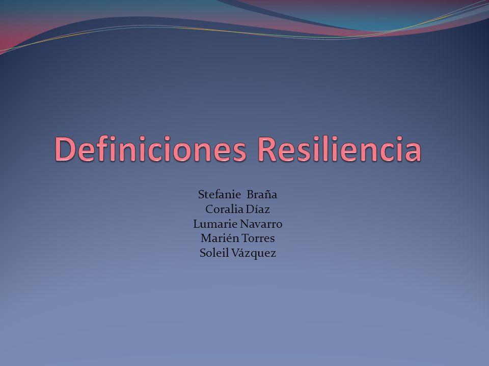 Resiliencia Según el Diccionario Esencial de Literatura Española, la palabra resiliencia se deriva del verbo latino salire y del término resilio que significa volver atrás, resaltar o rebotar.