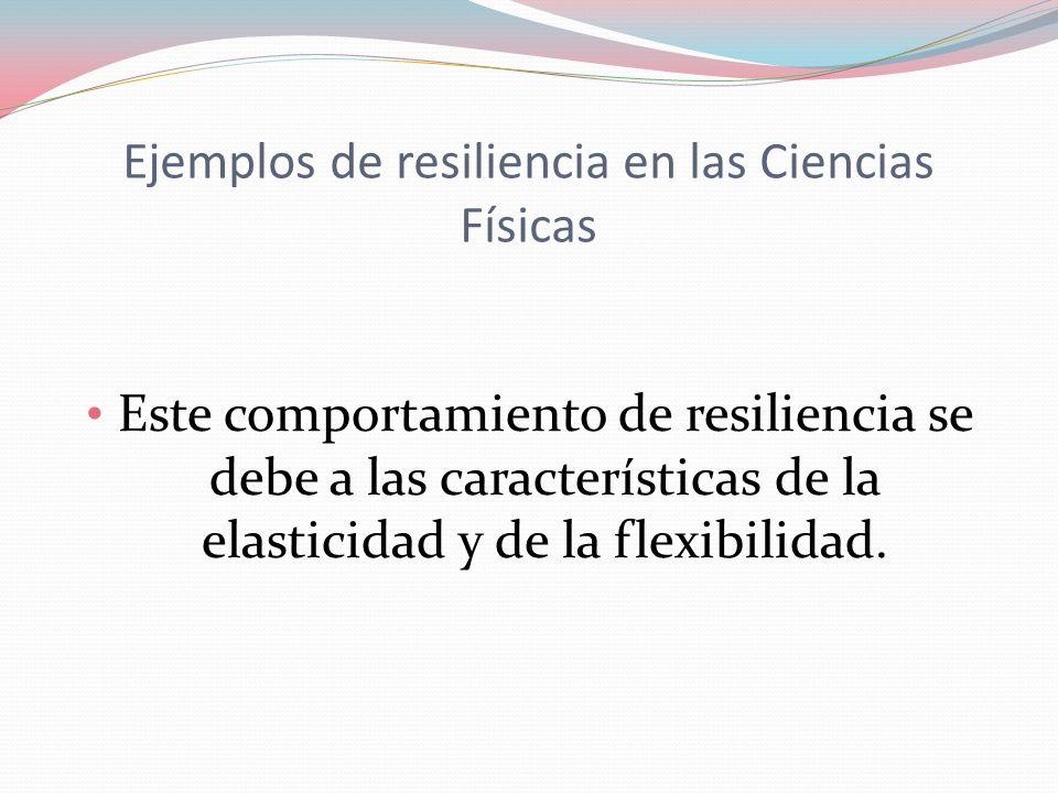 Resiliencia en la Biología La resiliencia se define como la capacidad de recuperarse rápidamente de enfermedad o de un desastre natural.