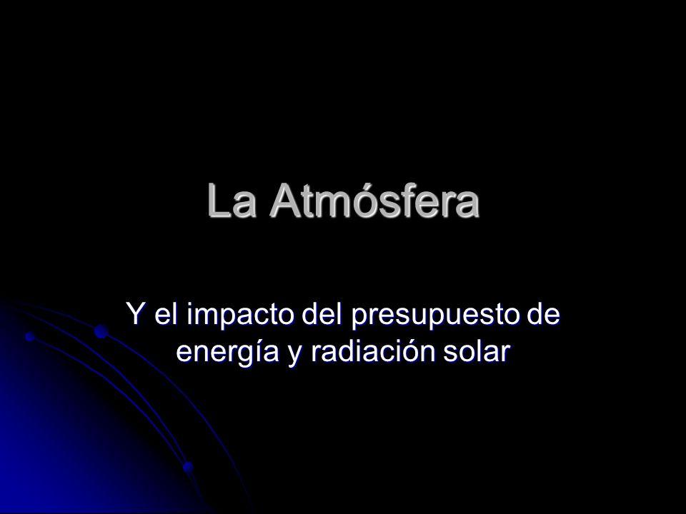La Atmósfera Y el impacto del presupuesto de energía y radiación solar