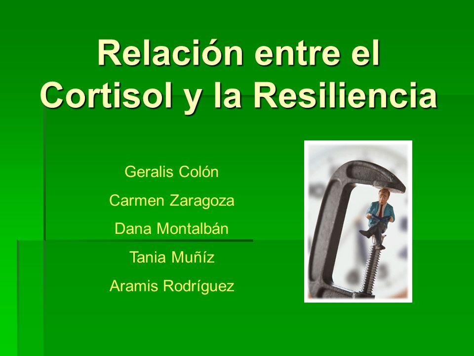 Relación entre el Cortisol y la Resiliencia Geralis Colón Carmen Zaragoza Dana Montalbán Tania Muñíz Aramis Rodríguez
