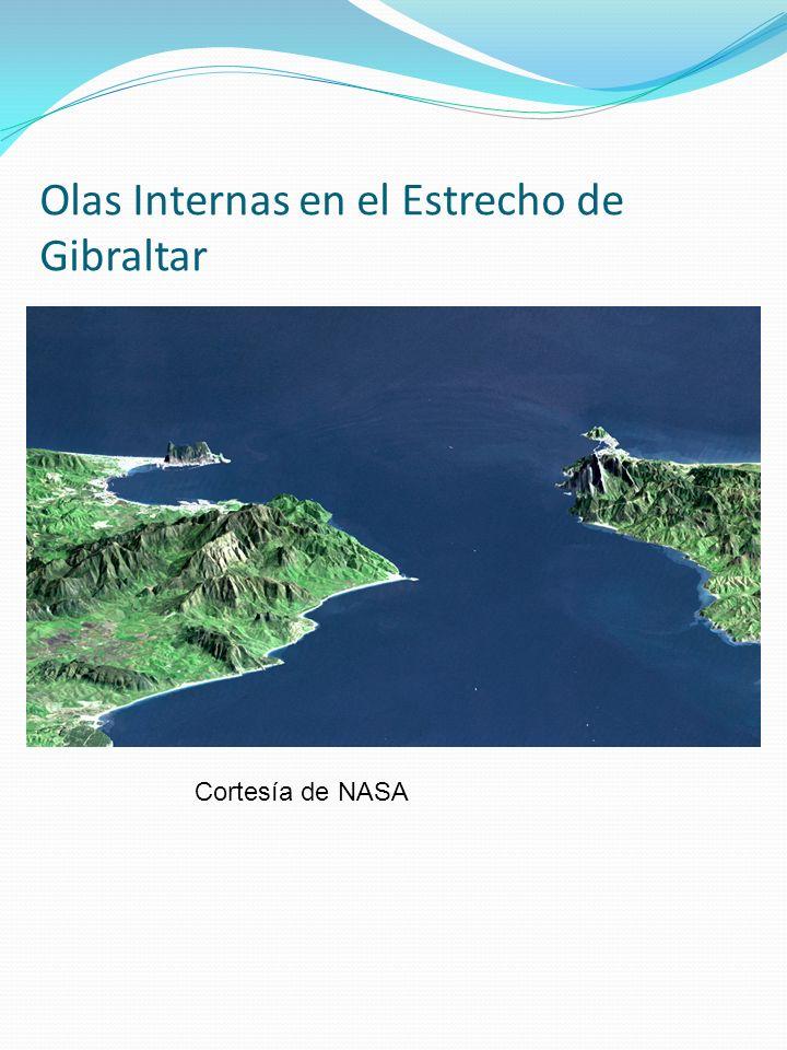 Olas Internas en el Estrecho de Gibraltar Cortesía de NASA