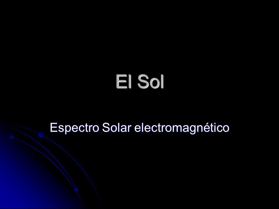 El Sol Espectro Solar electromagnético