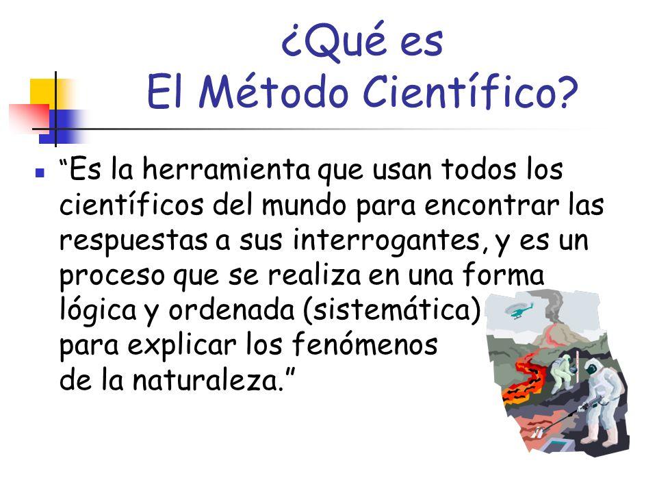A este proceso se le llama: EL Método Científico
