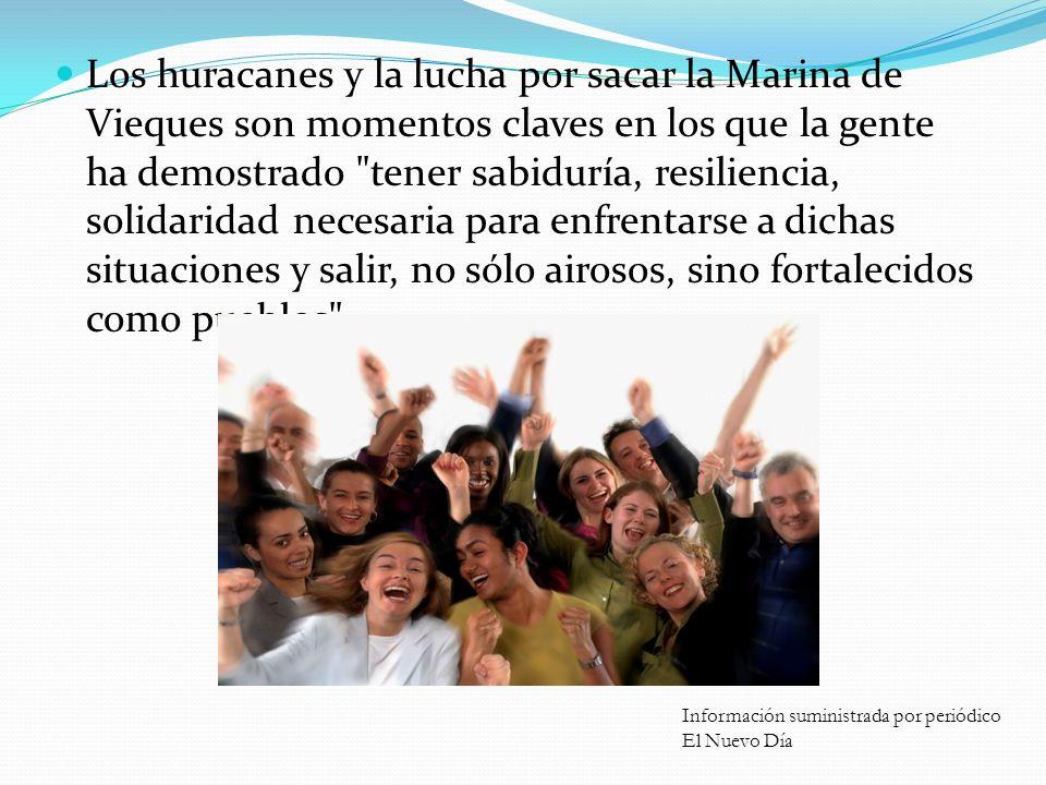 Ejemplos… Sicólogos, consejeros y conocedores del tema de la violencia coincidieron en que en Puerto Rico la gente tiene la capacidad de mostrar resil