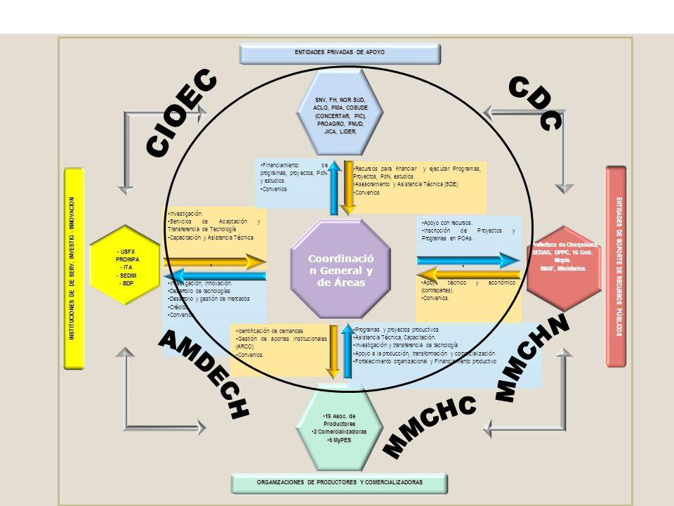 Estructura institucional de ejecución del Programa de Desarrollo del Amaranto PROYECTO DEPARTAMENTAL DE AMARANTO CON ENFOQUE DE INCLUSIÓN ECONÓMICA