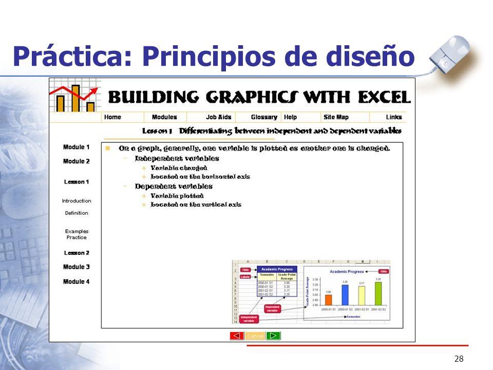28 Práctica: Principios de diseño