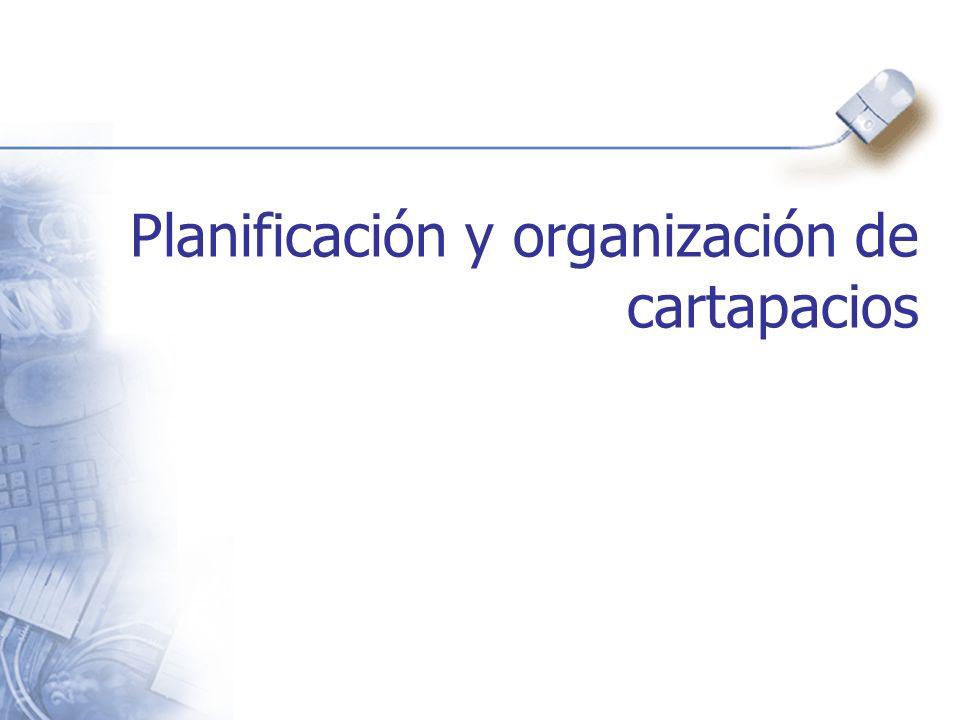 Planificación y organización de cartapacios