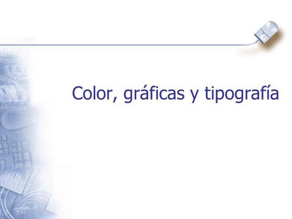 Color, gráficas y tipografía