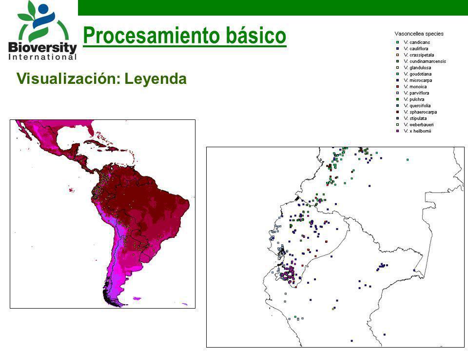 Procesamiento básico Visualización: Leyenda