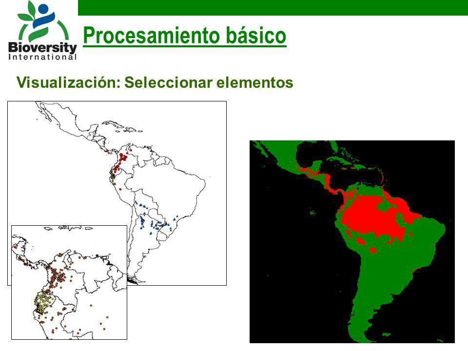 Procesamiento básico Visualización: Seleccionar elementos