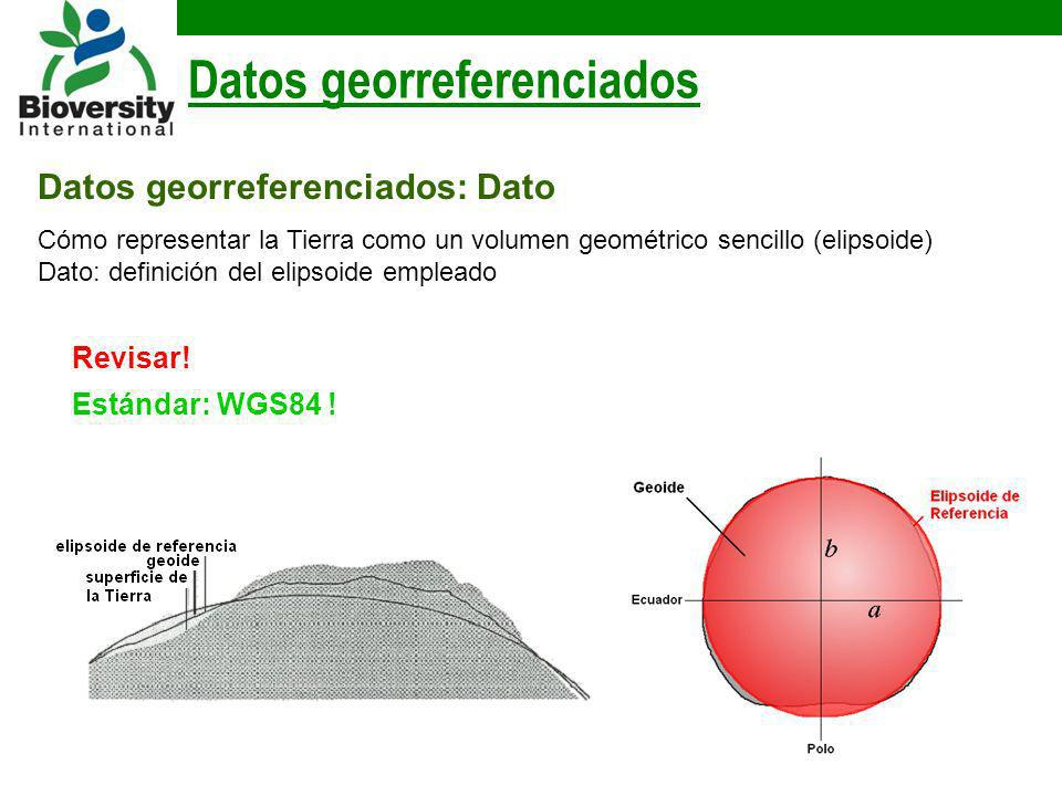 Datos georreferenciados: Dato Datos georreferenciados Cómo representar la Tierra como un volumen geométrico sencillo (elipsoide) Dato: definición del