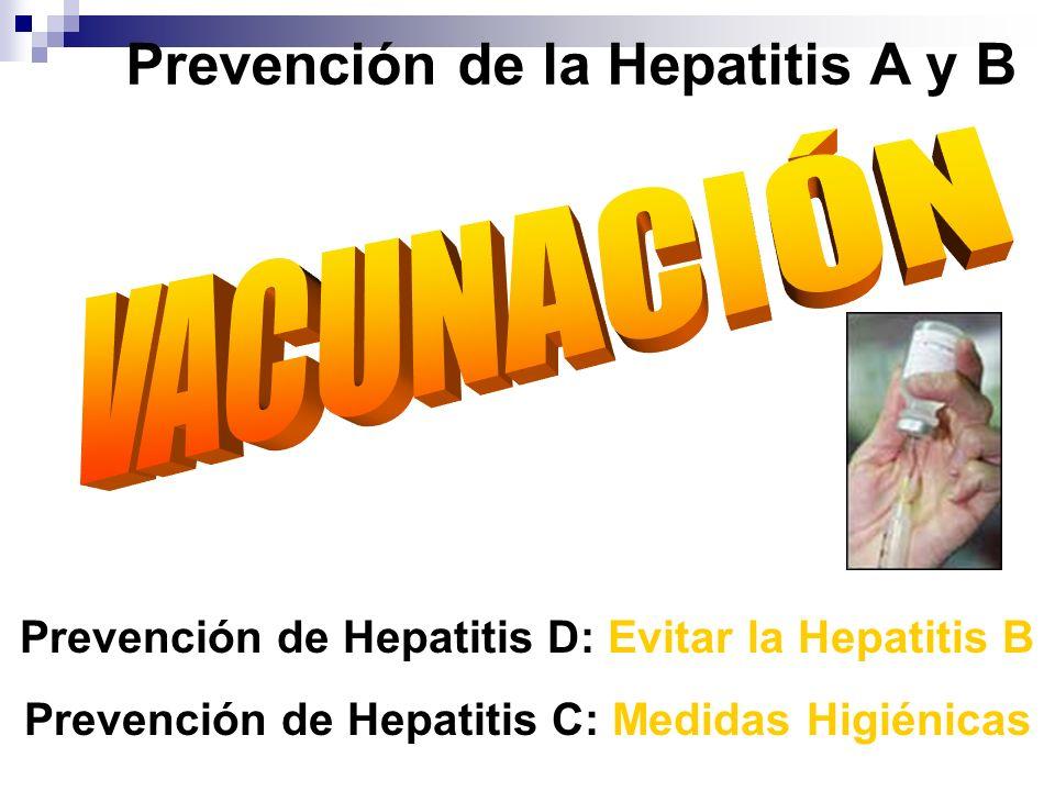 Prevención de la Hepatitis A y B Prevención de Hepatitis D: Evitar la Hepatitis B Prevención de Hepatitis C: Medidas Higiénicas