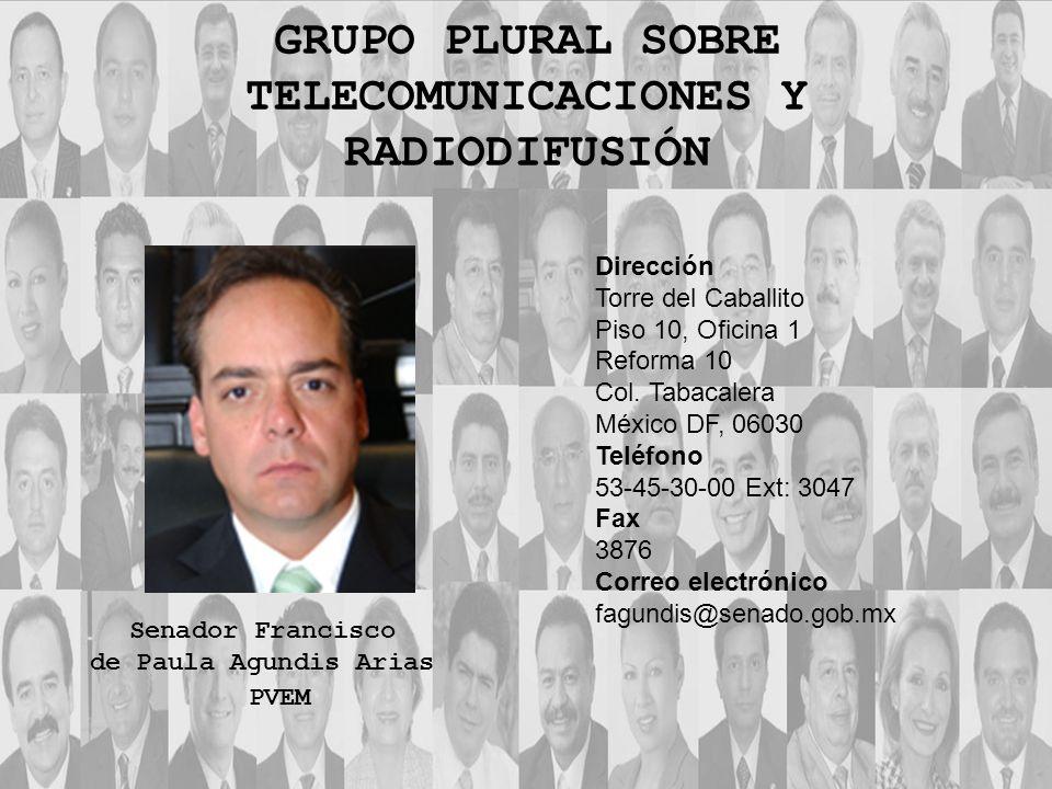 Dirección Torre del Caballito Piso 10, Oficina 1 Reforma 10 Col. Tabacalera México DF, 06030 Teléfono 53-45-30-00 Ext: 3047 Fax 3876 Correo electrónic