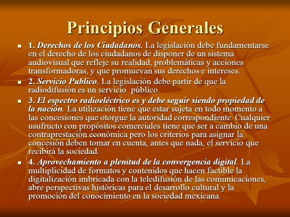 Principios Generales 1. Derechos de los Ciudadanos.