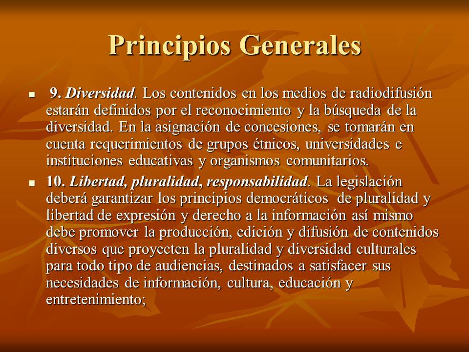 Principios Generales 9. Diversidad.