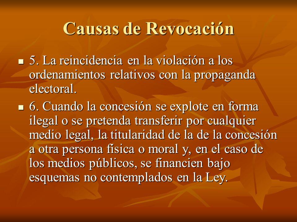 Causas de Revocación 5.