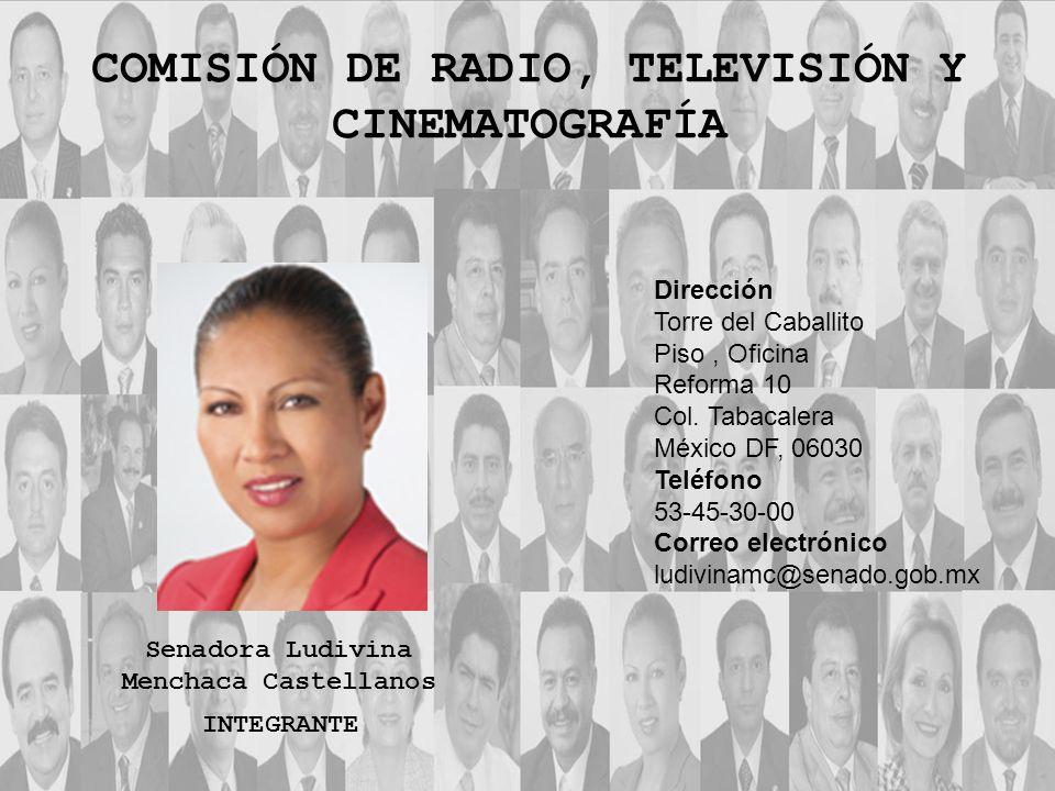 Dirección Torre del Caballito Piso, Oficina Reforma 10 Col. Tabacalera México DF, 06030 Teléfono 53-45-30-00 Correo electrónico ludivinamc@senado.gob.