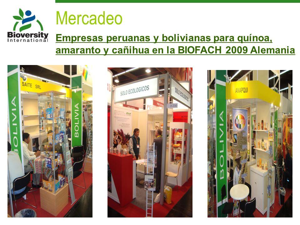 Empresas peruanas y bolivianas para quínoa, amaranto y cañihua en la BIOFACH 2009 Alemania Mercadeo