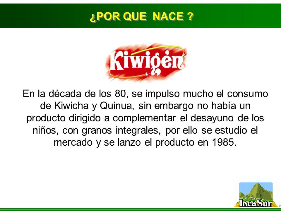 En la década de los 80, se impulso mucho el consumo de Kiwicha y Quinua, sin embargo no había un producto dirigido a complementar el desayuno de los n