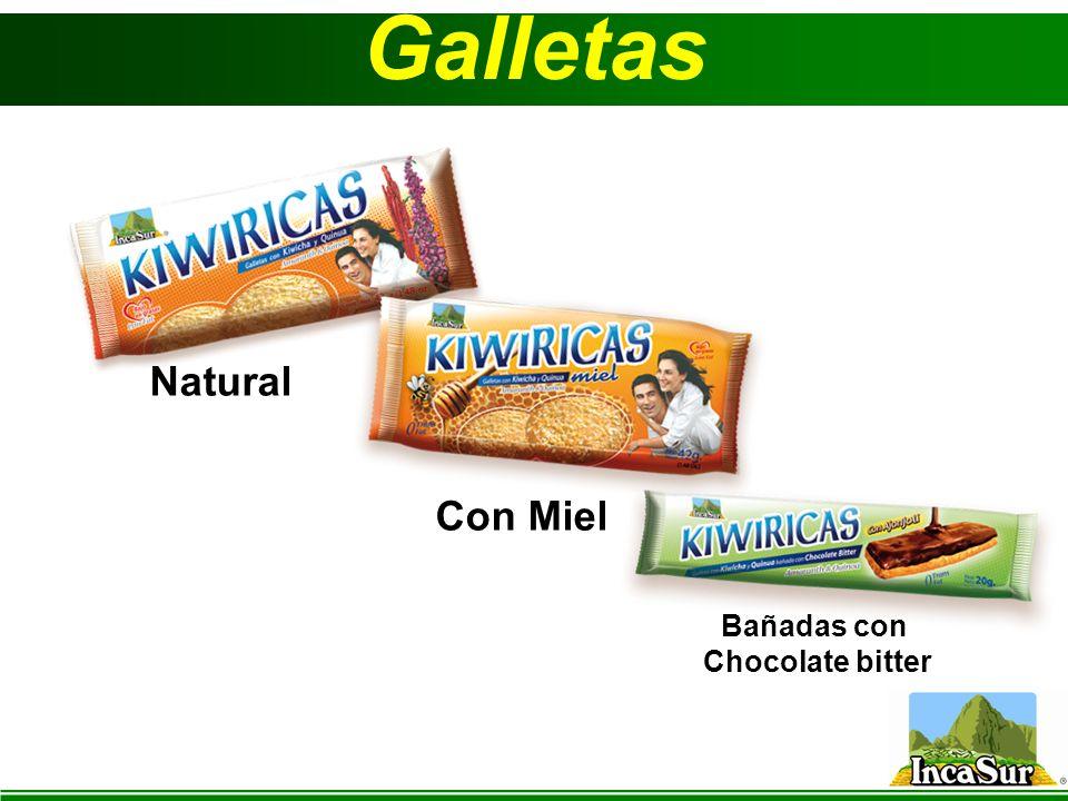 Galletas Natural Bañadas con Chocolate bitter Con Miel