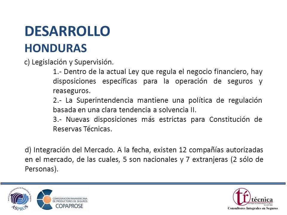 c) Legislación y Supervisión. 1.- Dentro de la actual Ley que regula el negocio financiero, hay disposiciones específicas para la operación de seguros