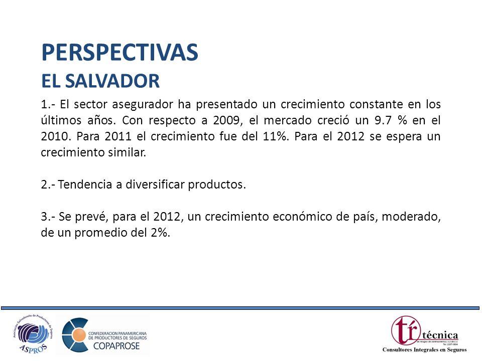 1.- El sector asegurador ha presentado un crecimiento constante en los últimos años. Con respecto a 2009, el mercado creció un 9.7 % en el 2010. Para
