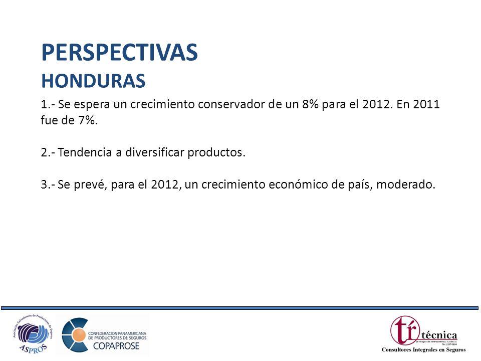 1.- Se espera un crecimiento conservador de un 8% para el 2012. En 2011 fue de 7%. 2.- Tendencia a diversificar productos. 3.- Se prevé, para el 2012,