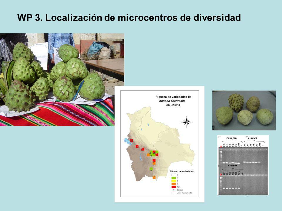 WP 3. Localización de microcentros de diversidad