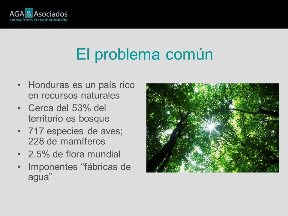 Honduras es un país rico en recursos naturales Cerca del 53% del territorio es bosque 717 especies de aves; 228 de mamíferos 2.5% de flora mundial Imponentes fábricas de agua