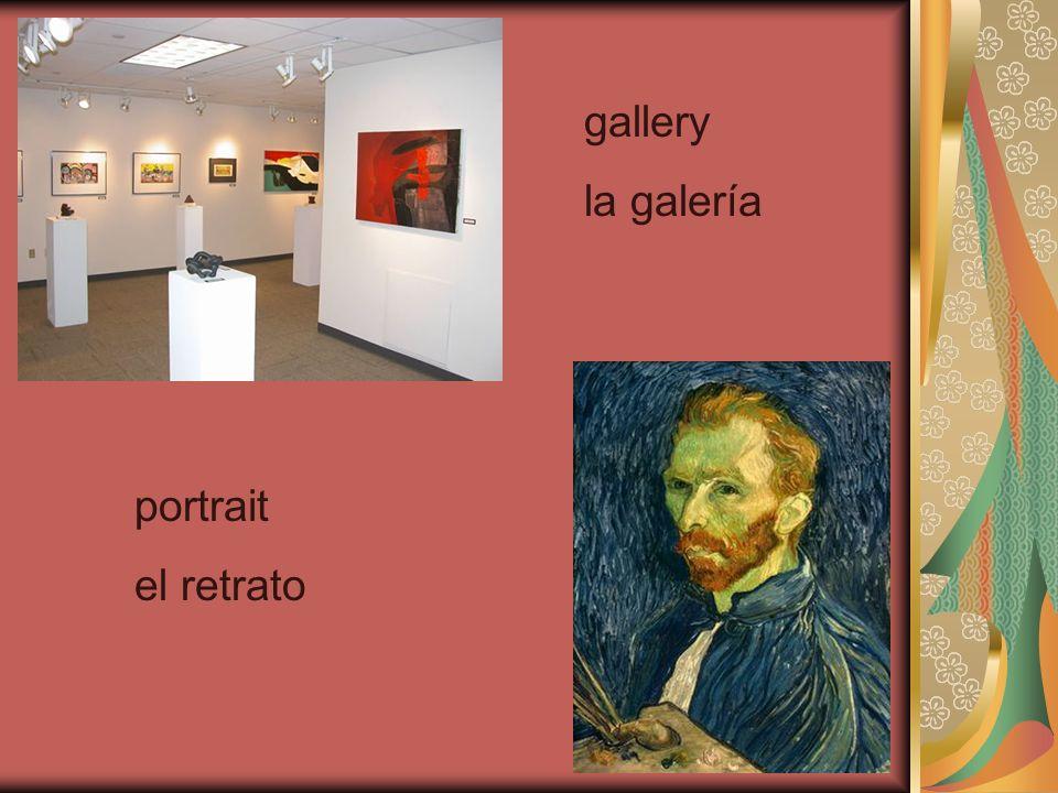 gallery la galería portrait el retrato