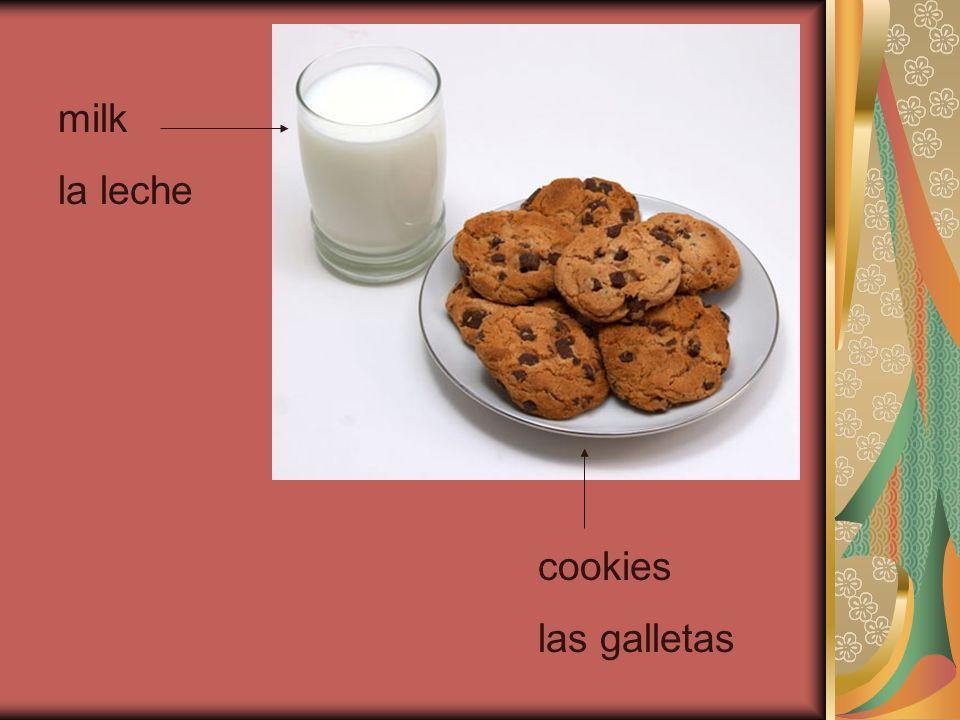 milk la leche cookies las galletas