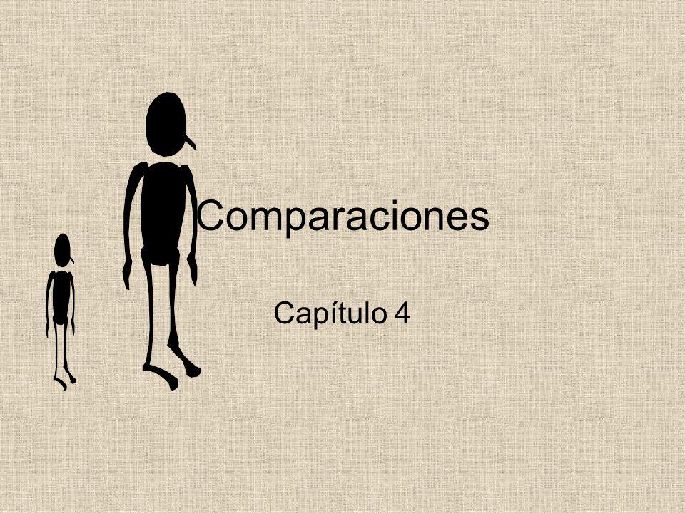 Comparaciones Capítulo 4