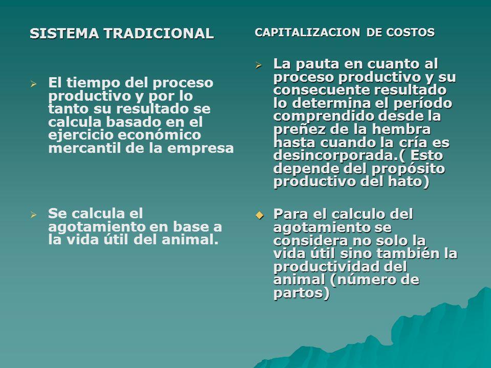 SISTEMA TRADICIONAL El tiempo del proceso productivo y por lo tanto su resultado se calcula basado en el ejercicio económico mercantil de la empresa S