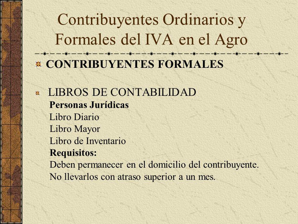 CONTRIBUYENTES FORMALES LIBROS DE CONTABILIDAD Personas Jurídicas Libro Diario Libro Mayor Libro de Inventario Requisitos: Deben permanecer en el domi