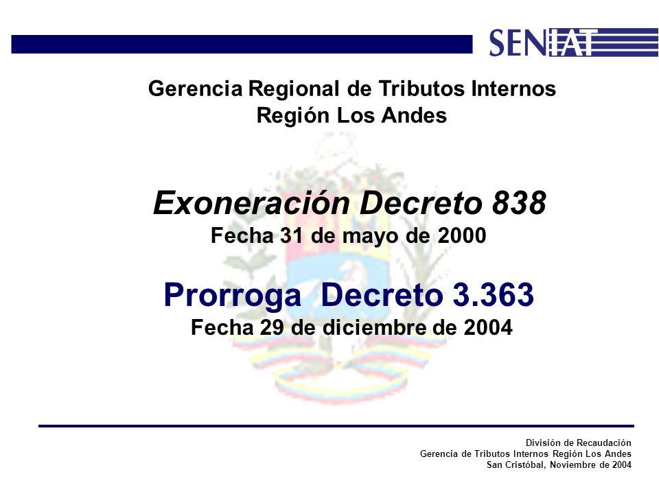 División de Recaudación Gerencia de Tributos Internos Región Los Andes San Cristóbal, Noviembre de 2004 Gerencia Regional de Tributos Internos Región Los Andes En base al contenido de la notificación efectuada, la Administración Tributaria deberá pronunciarse a la gravabilidad de los enriquecimientos netos de la persona registrada como beneficiaria.