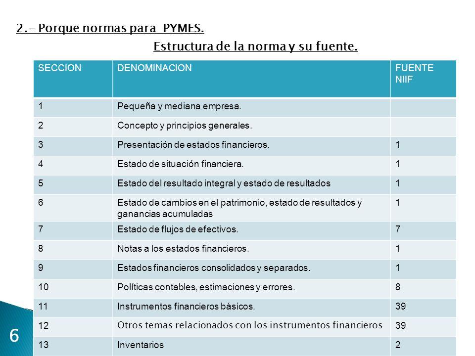 17 ESTADO DEL RESULTADO INTEGRAL Y GANANCIAS ACUMULADAS 3.- Aspectos básicos de NIF PYMES.